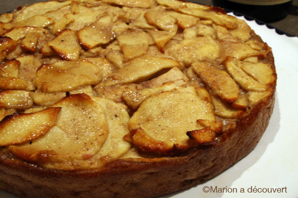 Gâteau invisible pommes/châtaigne ou ma première expérience mandoline…