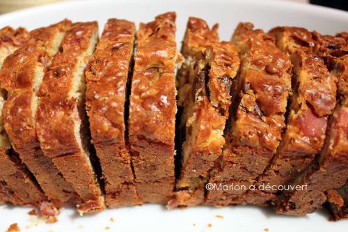 Cake figues séchées & jambon de pays