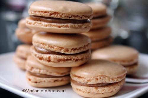 Macarons au praliné