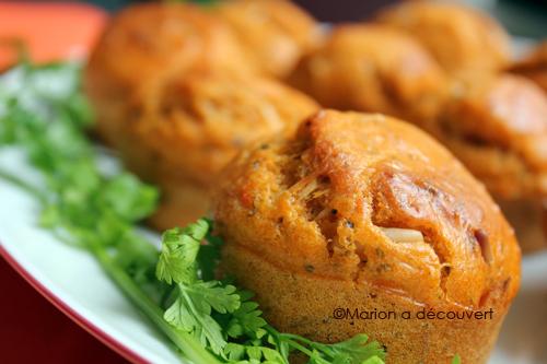Muffins au pesto de tomates séchées