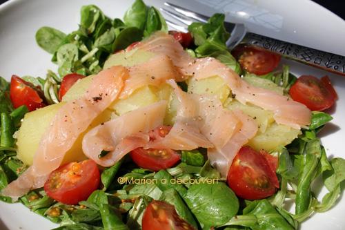 Salade de pommes de terre ti de au saumon fum recettes - Salade pomme de terre saumon fume ...