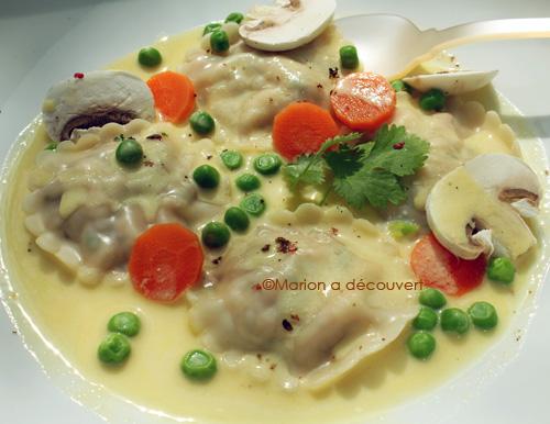 Wontons de saumon à la coriandre, crème d'agrumes à l'asiatique…