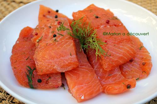 saumon gravlax recettes de cuisine de marion flipo. Black Bedroom Furniture Sets. Home Design Ideas