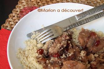 Sauté de porc aigre-doux aux cranberries