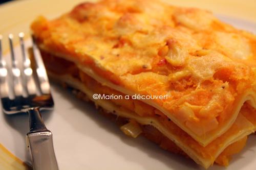Lasagnes automnales de potimarron