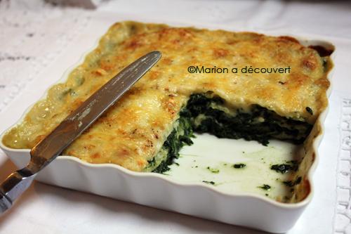 Gratin de ravioles aux épinards, fromage et béchamel : réchauffons nous !