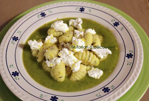 Gnocchis au basilic, crème de courgettes & ricotta citronnée… (Article sponsorisé)