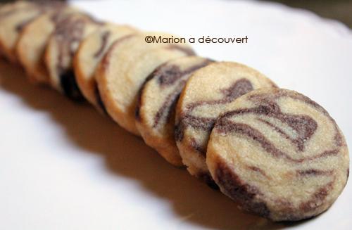 Sablés de Noël marbrés chocolat/vanille