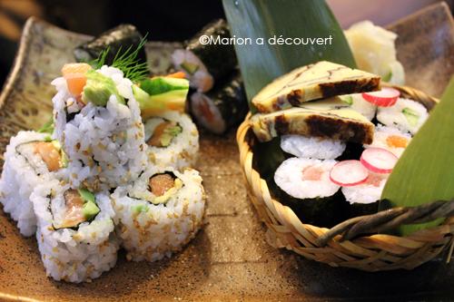 menu maki et sashimi