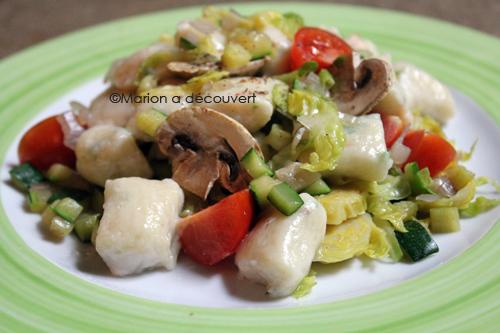 Recette gnocchis for Asticots blancs cuisine