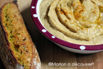 Houmous de pois chiche au curry