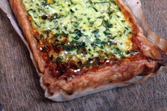 Courgettes, mascarpone et muscade pour une tarte pleine de gourmandise !