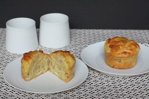 Muffins au Maroilles, pommes et amandes effilées