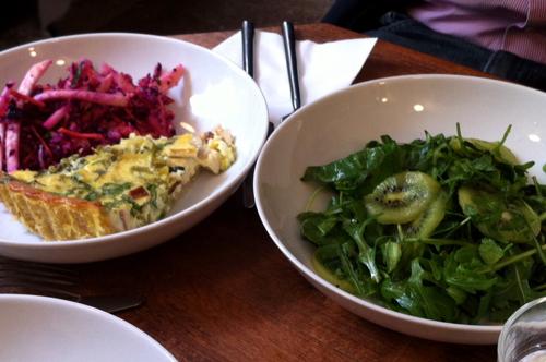 quiche + salade kiwi