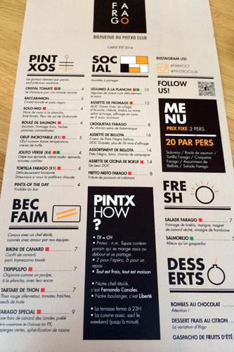 menu farago