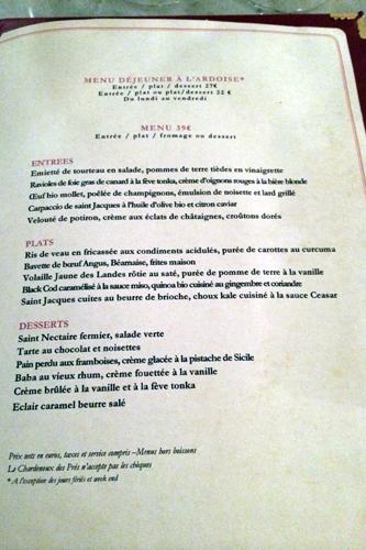 menu chardenoux