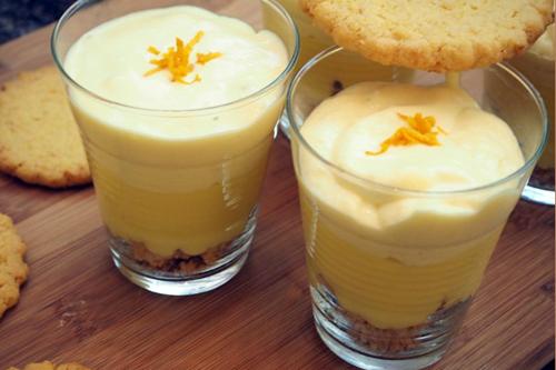 Mousse mascarpone, orange curd et sablés maison