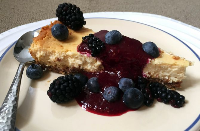 Cheesecake cream cheese et fromage blanc aux fruits noirs d'été…