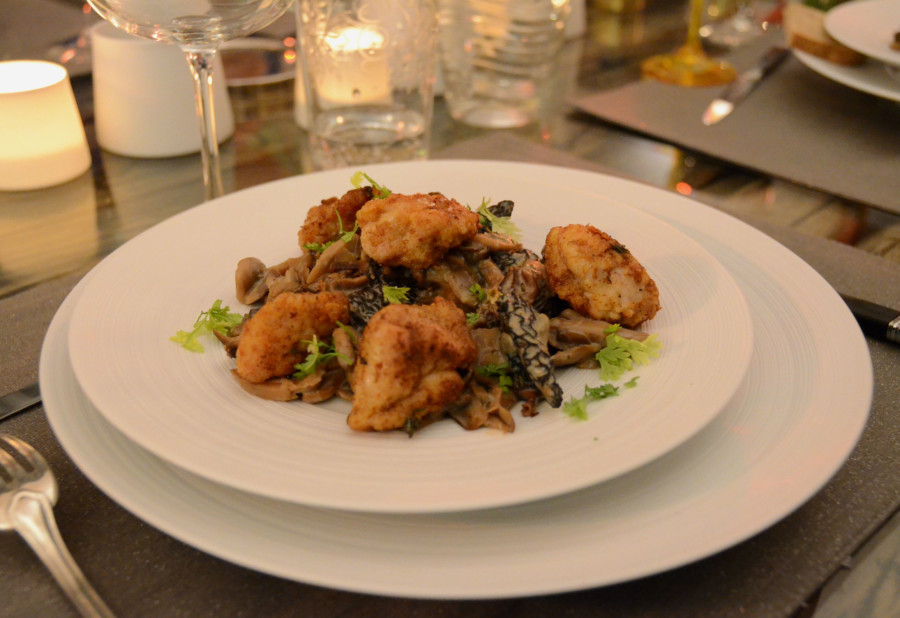 Ris de veau croustillants aux champignons sauvages et épices douces…