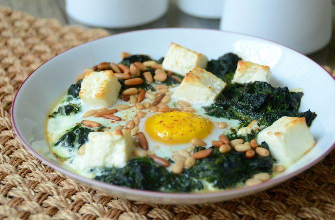 Green Shakshuka ou le petit déjeuner comme au Maghreb.