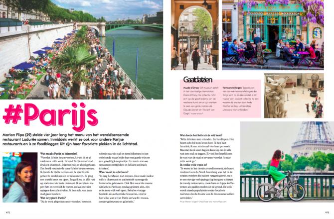 Mes bons plans pour une visite à Paris dans le magazine VIVA