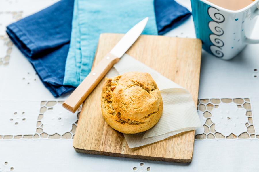 Scone sans gluten au sucre coco et poudre de noix de pécan