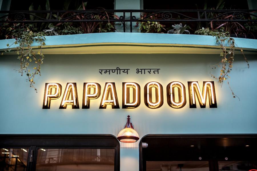 Papadoom Kitchen, from Paris to Bombay