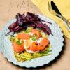 Galette de courgette, saumon fumé et crème citronnée