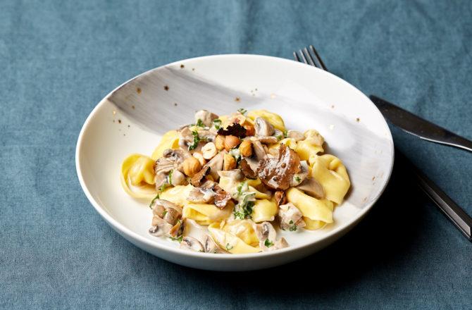 La recette de Noël qui sauve : Tortellinis à la truffe et crème aux champignons