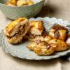 Suprême de volaille aux champignons, petites pommes de terre truffées