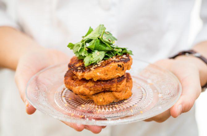 Galettes de patate douce vegan