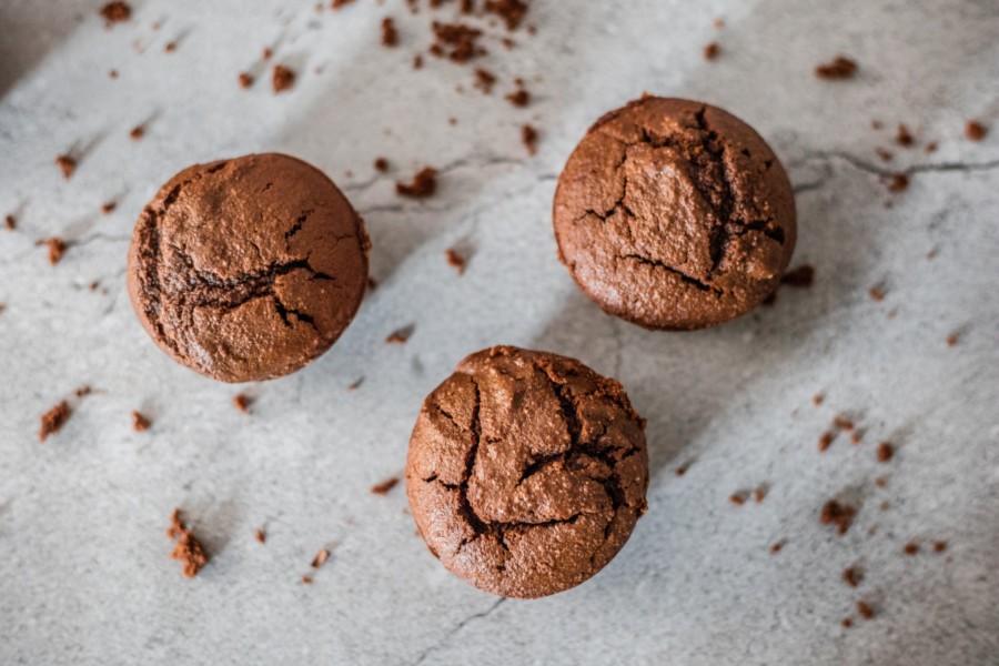 Muffins chocolat/coco guilt-free sans huile et sans beurre