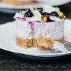 Cheesecake léger au skyr, myrtille et pistache