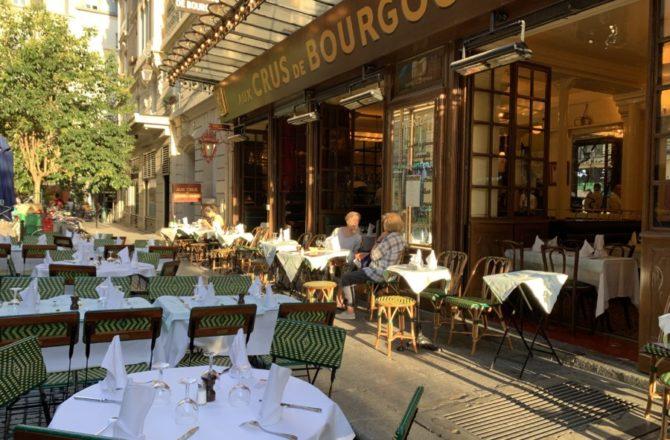 Diner aux Crus de Bourgogne ou l'institution de la cuisine de terroir du quartier Montorgueil